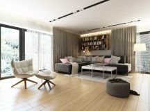Dark Grey, White & Wood Tone Decor With Personal Flair images 3