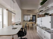 Completely White Apartment With Dominant Central Home Office images 9