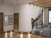 Rich Industrial Style Unites Jewel Colours with Exposed Brick Walls images 35