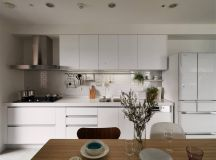 Completely White Apartment With Dominant Central Home Office images 15