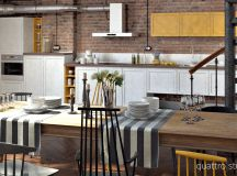 Rich Industrial Style Unites Jewel Colours with Exposed Brick Walls images 13
