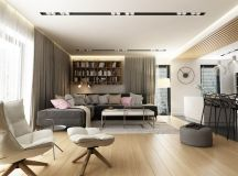 Dark Grey, White & Wood Tone Decor With Personal Flair images 1