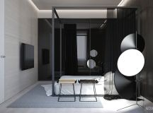 White & Grey Interior Design In The Modern Minimalist Style images 30