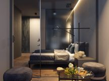 Dark Grey Home Decor With Warm LED Lighting images 27