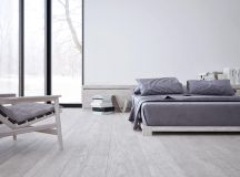 White & Grey Interior Design In The Modern Minimalist Style images 13
