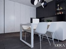 White & Grey Interior Design In The Modern Minimalist Style images 3