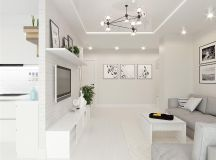 White & Grey Interior Design In The Modern Minimalist Style images 18