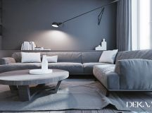 White & Grey Interior Design In The Modern Minimalist Style images 0