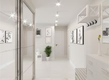 White & Grey Interior Design In The Modern Minimalist Style images 22