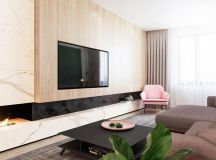 Functional Minimalist Home With Brave Colours And Bespoke Installations images 1
