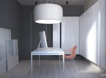 White & Grey Interior Design In The Modern Minimalist Style images 31