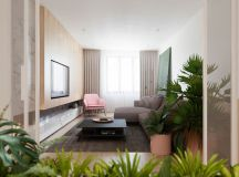 Functional Minimalist Home With Brave Colours And Bespoke Installations images 5