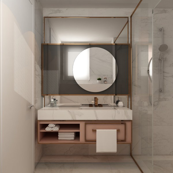 Copper and Grey Bathroom Ideas