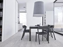 White & Grey Interior Design In The Modern Minimalist Style images 9