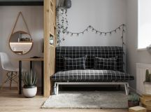 Modest Size Modern Interiors That Flirt With Feature Walls images 27