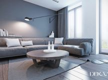 White & Grey Interior Design In The Modern Minimalist Style images 1