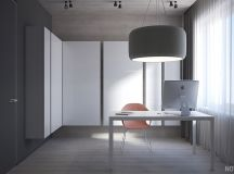 White & Grey Interior Design In The Modern Minimalist Style images 32