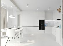 White & Grey Interior Design In The Modern Minimalist Style images 23