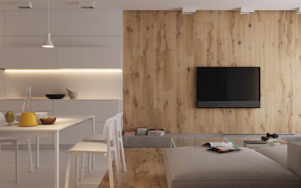 Modest Size Modern Interiors That Flirt With Feature Walls