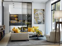 50 Modern Living Rooms That Act As Your Home's Centrepiece images 34