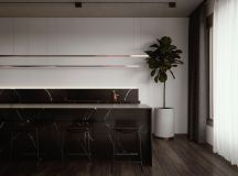 Luxury Apartment Interior Design Using Copper: 2 Gorgeous Examples images 25