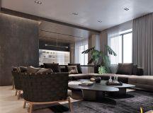 Luxury Apartment Interior Design Using Copper: 2 Gorgeous Examples images 5