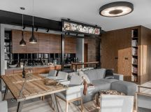 Three Homes Using Exposed Brick, Wood Panelling and Grey To Their Advantage images 21