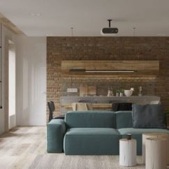 Modern Minimalist Living Room Chandelier For Small 40 Gorgeously Rooms That Find Substance In Simplicity White Walls And Exposed Brick Go This Couple S Retreat