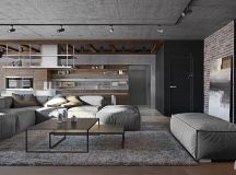 Three Homes Using Exposed Brick, Wood Panelling and Grey To Their Advantage images 1