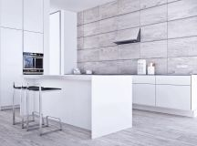 White & Grey Interior Design In The Modern Minimalist Style images 10