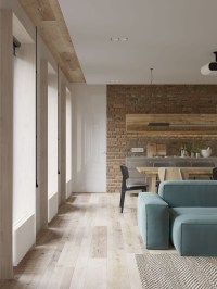 White Walls and Exposed Brick Go Minimalist in This Couple ...