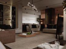 Luxury Apartment Interior Design Using Copper: 2 Gorgeous Examples images 16