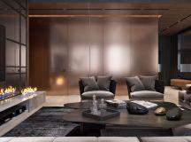 Luxury Apartment Interior Design Using Copper: 2 Gorgeous Examples images 0