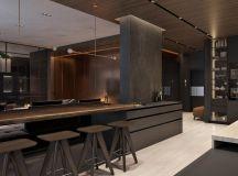 Luxury Apartment Interior Design Using Copper: 2 Gorgeous Examples images 6