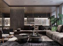 Luxury Apartment Interior Design Using Copper: 2 Gorgeous Examples images 3