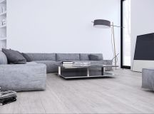 White & Grey Interior Design In The Modern Minimalist Style images 6