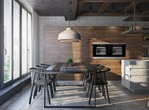 Three Homes Using Exposed Brick, Wood Panelling and Grey To Their Advantage images 3