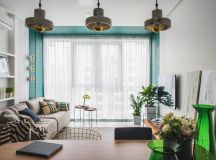 Green and Gold Interior With Modern Eclectic Vibe [Includes Floor Plans] images 0
