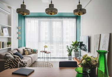 Green and Gold Interior With Modern Eclectic Vibe [Includes Floor Plans]