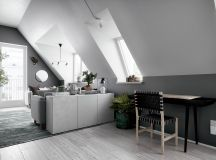 2 Gorgeous Attic Apartments That Use Grey As Base images 4