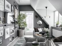 2 Gorgeous Attic Apartments That Use Grey As Base images 0
