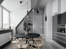 2 Gorgeous Attic Apartments That Use Grey As Base images 7