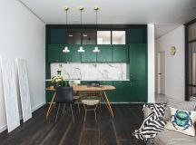 Green and Gold Interior With Modern Eclectic Vibe [Includes Floor Plans] images 5