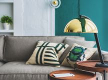 Green and Gold Interior With Modern Eclectic Vibe [Includes Floor Plans] images 3