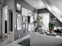 2 Gorgeous Attic Apartments That Use Grey As Base images 3