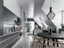 2 Gorgeous Attic Apartments That Use Grey As Base images 5