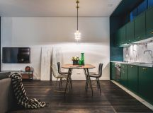 Green and Gold Interior With Modern Eclectic Vibe [Includes Floor Plans] images 7
