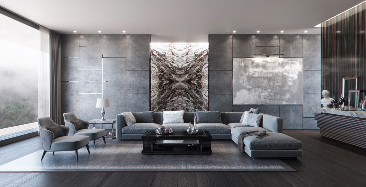 Living Room Grey Design