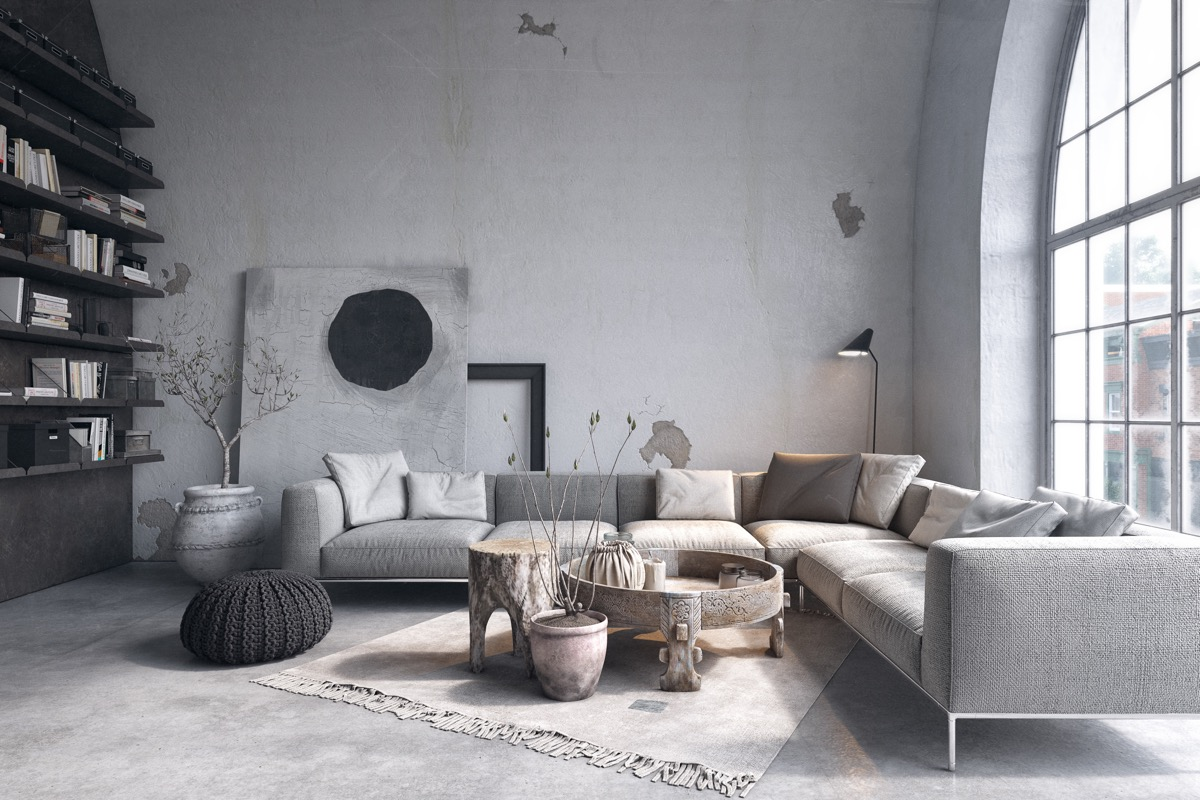 white and grey living room decorating ideas for small with fireplace 40 rooms that help your lounge look effortlessly stylish 38 visualizer serhii seinov create a rustic in black