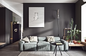 living grey rooms interior lounge colour gray dark furniture paint wall floors scandinavian painting slate understated effortlessly stylish help atng